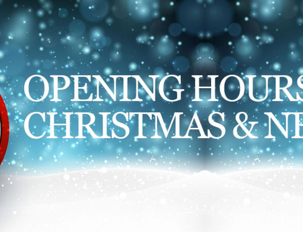 Christmas: Opening Hours
